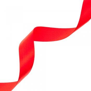 Лента атласная 25 мм красная