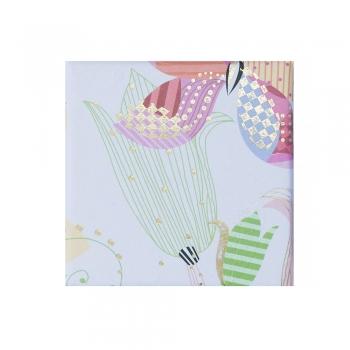 Коробочка картонная подарочная Цветочный узор