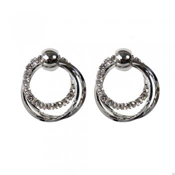 Сережки круглі срібні