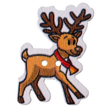 Пуговица деревянная Северный олень