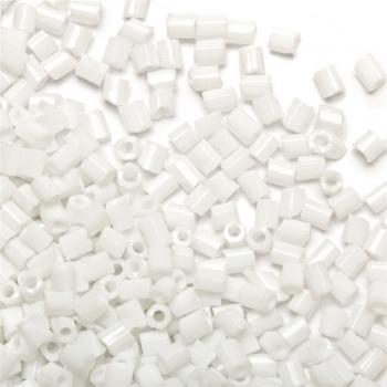Бісер-рубка білий непрозорий 2.1 мм скло