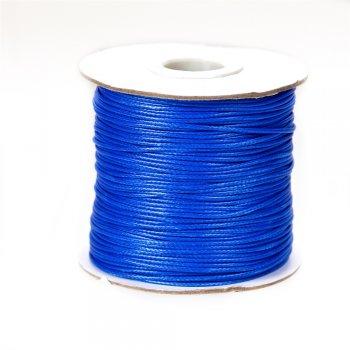 Плетёный шнур синий, хлопок с пропиткой, 1 мм