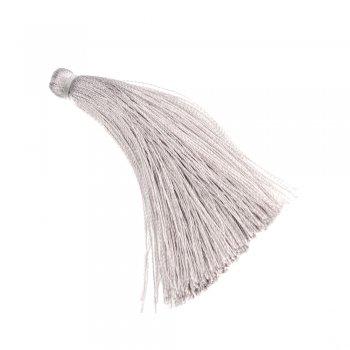 Текстильная кисточка серая
