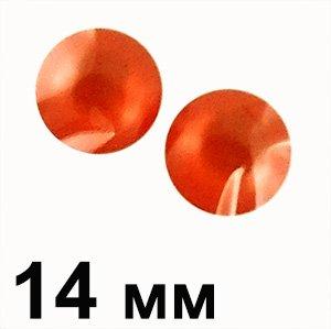 Пластикові кабошони опуклий круг червоний