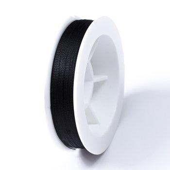 Нитка титанова для бісеру 0,1 мм 100м чорна