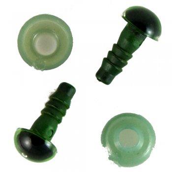 Пластиковые глазки зеленый 8 мм