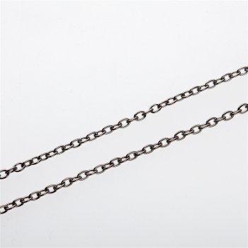 Цепь тёмно-стальная мелкая якорная 3х4х0,8 мм