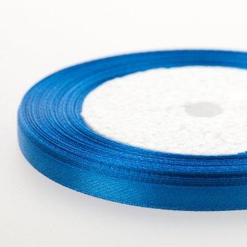 Лента атласная. Синяя. 7 мм.
