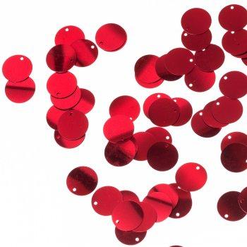 Пайетки-подвески, красные, 16 мм