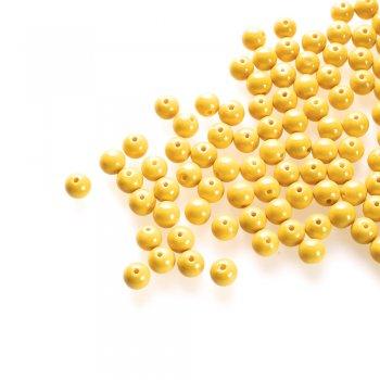 Скло однокольорове повного фарбування. Жовтий. Діаметр 8 мм.