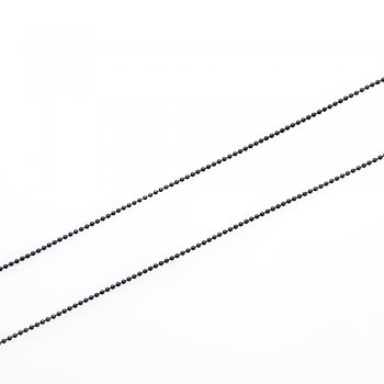 Цепь с цельными звеньями, черная. Калибр 1,5 мм, ширина звена 1,5 мм, длина звена 1,5 мм