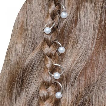 Пирсинг для волос с жемчужиной набор 5 шт