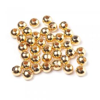 Металлические литые бусины. Золотой. Размер 8 мм.