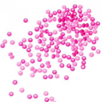 Намистини скляні грановані рожевий 6 мм