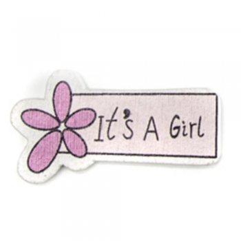 It's a Girl. Деревянные клеевые элементы