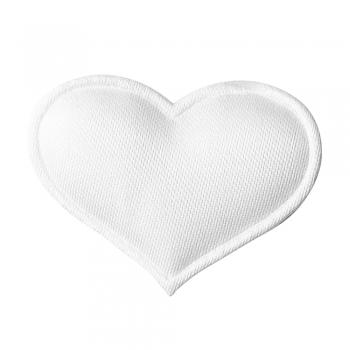 Текстильний дутий елемент Серце біле