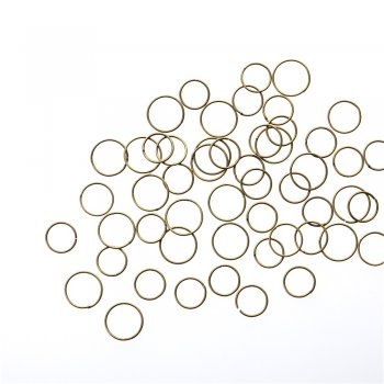 Бижутерные колечки 10 мм бронзовые 10 гр