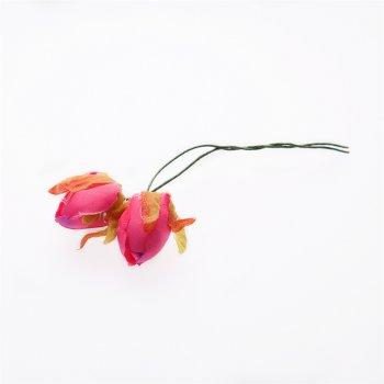 Искусственные цветы, бутон розы, розовый
