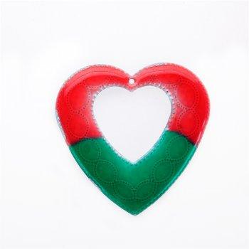 Кулон металлический сердце эмаль
