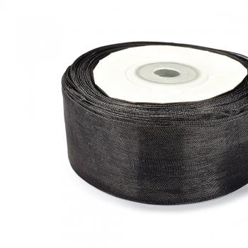 Лента из органзы 30 мм черная
