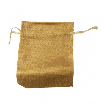 Мішечок поліестеровий 12х10см золотий