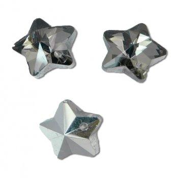 Кришталеві підвіски в формі зірки сріблясті