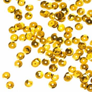 Пайетки золотой 6 мм