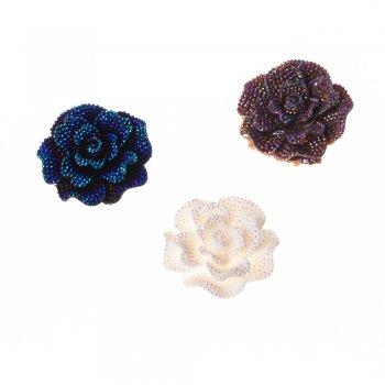 Роза. Пластиковий клейовий елемент, мікс, 45 мм