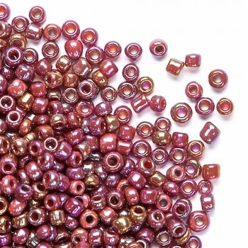 Бісер круглий, невеликий, коричневий райдужний. Калібр 12 (1,8 мм)