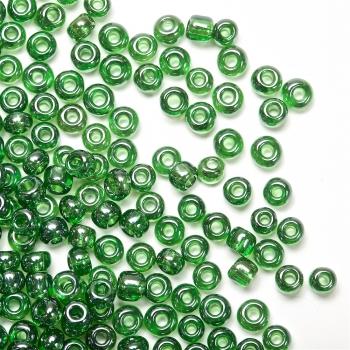 Бисер круглый, мелкий, зеленый. Калибр 12 (1,8 мм)