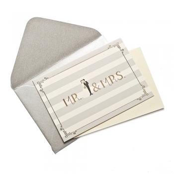 Листівка з конвертом Mr & Mrs