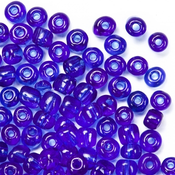 Бісер круглий, великий, синій. Калібр 6 (3,6 мм)
