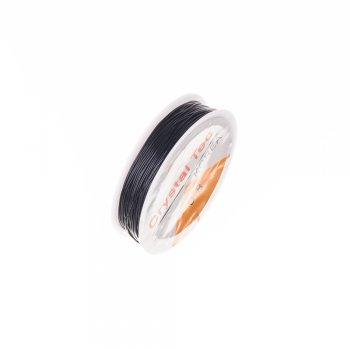 Резинка силіконова товста чорна 0,8 мм