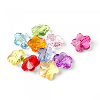 Пластиковые кристаллы. Микс цветов. Диаметр 9 мм.