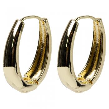 Сережки (пара) Велике кільце золоте