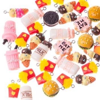 Печенье Oreo. Подвески из полимерной глины микс цветов сладости