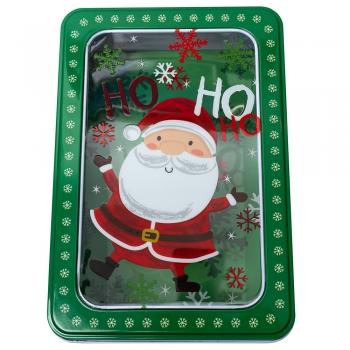 Коробочка жестяная Дед Мороз 19,2*13,2*6,5 см