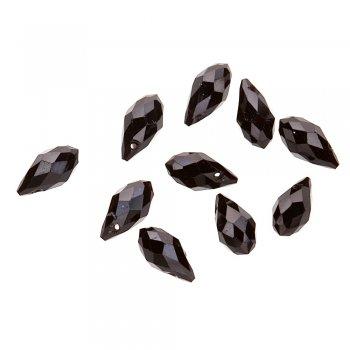 Кришталеві краплеподібні підвіски чорний 13 мм