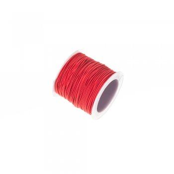 Шнур-резинка красный полиэстер с эластаном 1 мм