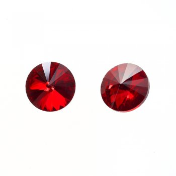 Стрази скляні вставні. Червоний. Діаметр 16 мм.
