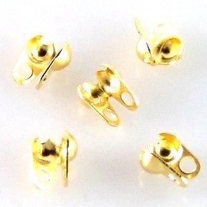 Затискачі для ланцюжків. Золотий. Діаметр 1,5 мм