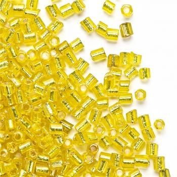 Бисер-рубка (2,1 мм) желтый