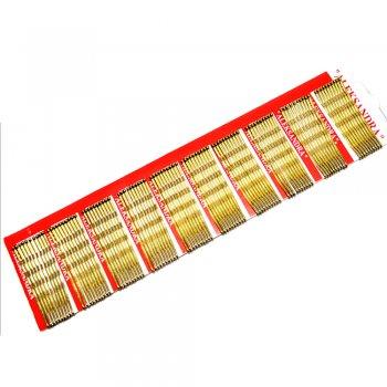 Шпильки-невидимки для волос (уп10 шт) жолтые