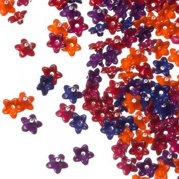 Пластик одноцветный. Микс цветов опаковый непрозрачный 9 мм