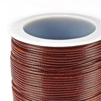 Шнур бавовняний плетений, коричневий, 1 мм