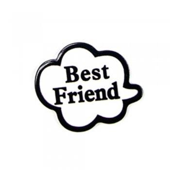 Best friend. Пластиковый клеевой элемент, 31х25 мм