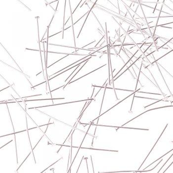 Бижутерные гвоздики серебристый 30 мм