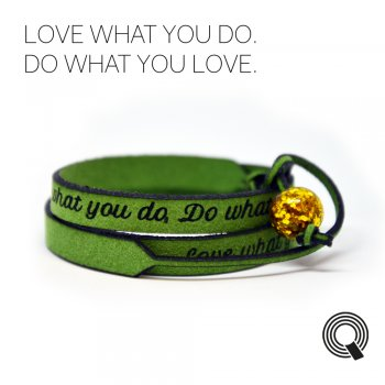 "Браслеты квоутлеты ""Love what you do. Do what you love"", зеленый"