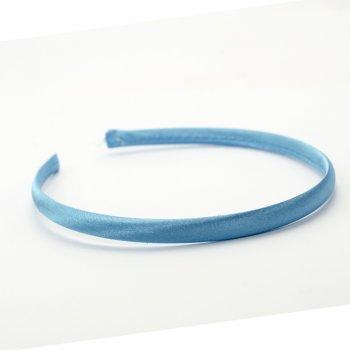 Обруч пластиковий з атласним покриттям блакитний