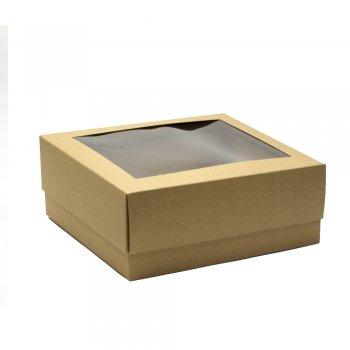 Коробочка картонна 15 * 20 * 7 см з пластиком